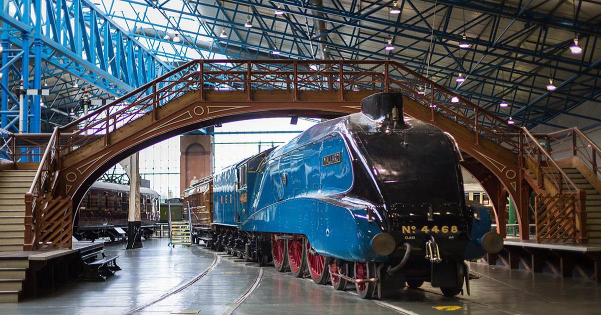 Steam train Mallard at the National Railway Museum York