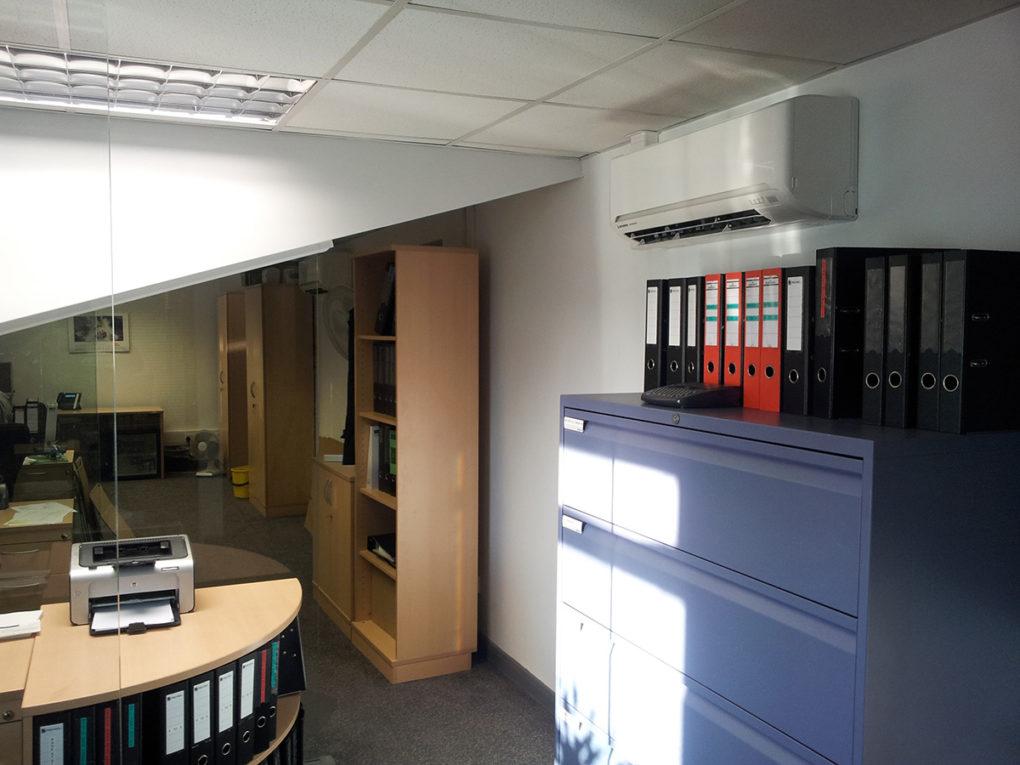 Lindum packaging multi split air conditioning installed by Torr Engineering - Grimsby.